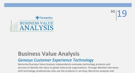 Nemertes Business Value Analysis