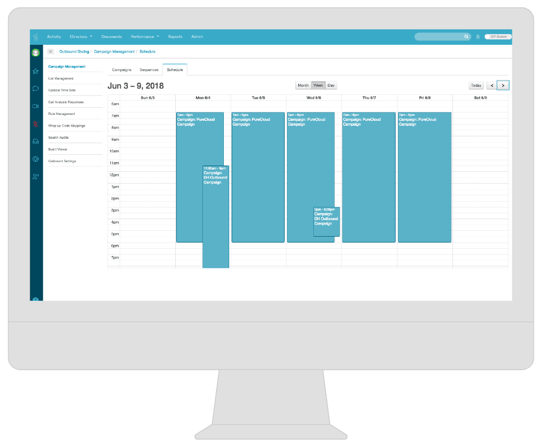 Outbound campaign dashboard