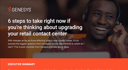 Featured img 6 steps to take right now if you're thinking about upgrading your retail contact center