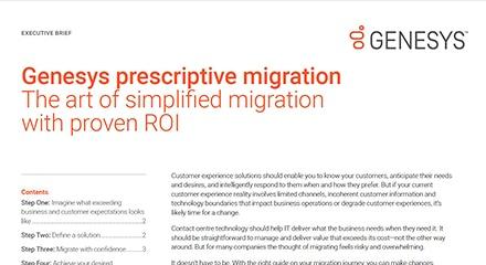 Genesys prescriptive migration ex qe