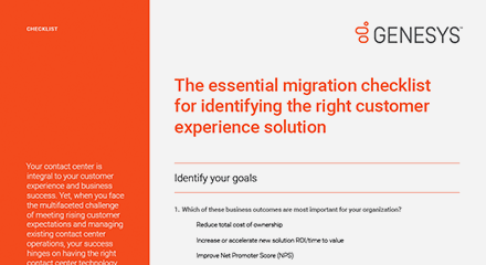 The essential migration checklist for identifying the right customer experience solution cl en resource center en