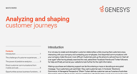 Analyzing and shaping customer journeys