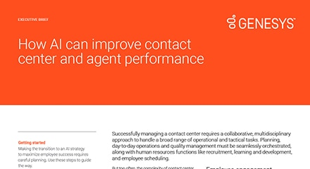 Improve contact centre performance with ai