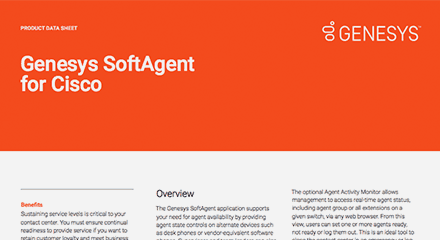 Softagent for cisco by genesys