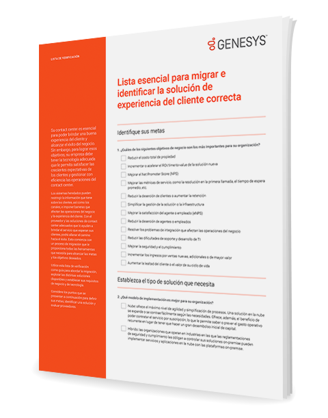 [the essential migration checklist for identifying the right customer experience solution cl] 3d {es]