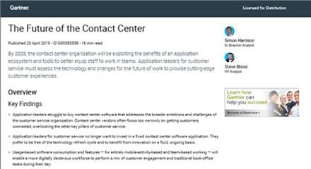 L'avenir du centre de contact