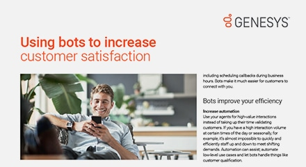 Using bots to increase customer satisfaction thumbnail
