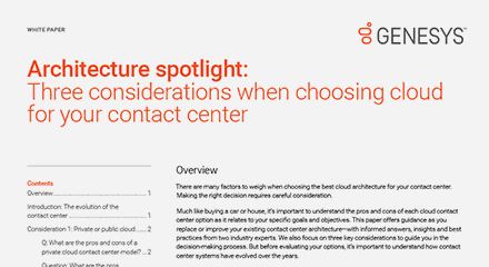 Architecture spotlight three considerations when choosing cloud for your contact center wp resource center en