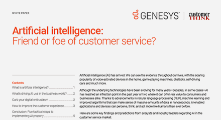 Artificial intelligence friend or foe of customer service wp resource center en