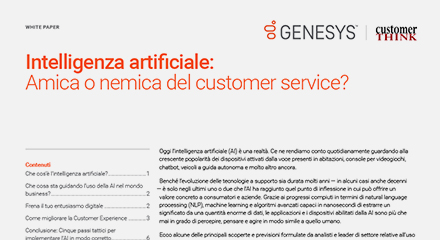Artificial intelligence friend or foe of customer service thumbnails resource center it