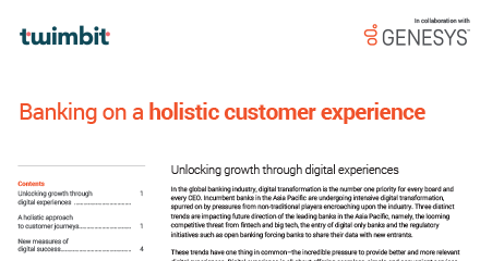 Banking on a holistic customer experience wp en resource center