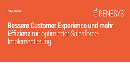 Bessere Customer Experience mit Salesforce Implementierung Datenblatt