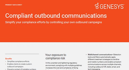 Compliant outbound communications