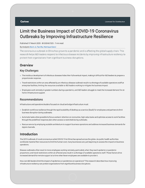 Gartner limit the business impact of covid 19 thumbnail kit 3d