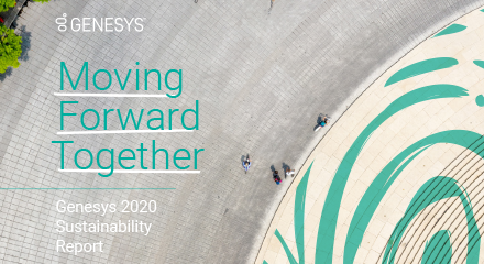 Genesys' 2020 sustainability report resource centre 440x240px