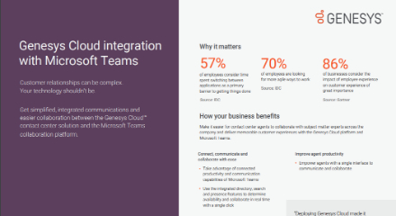 Genesys cloud integration with microsoft teams max quality