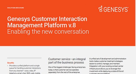 Interaction management platform v.8