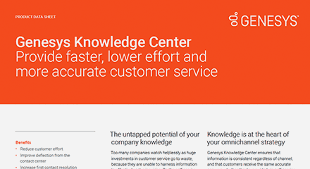 Genesys knowledge center ds resource center en