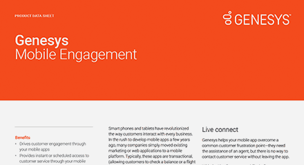 Genesys mobile engagement ds resource center en