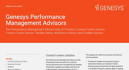 Genesys performance management advisors ds resource center en