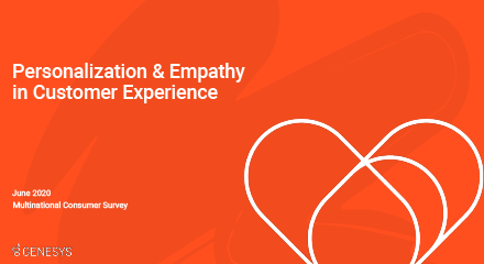 Genesys research  personalisation and empathy in customer experience rc 440x240px