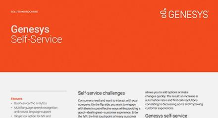 Genesys self service