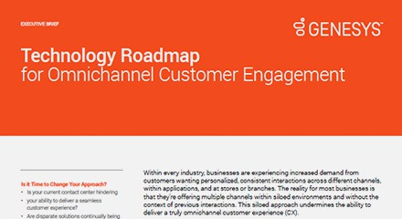 Genesys technology roadmap for omnichannel customer engagement eb resource center en