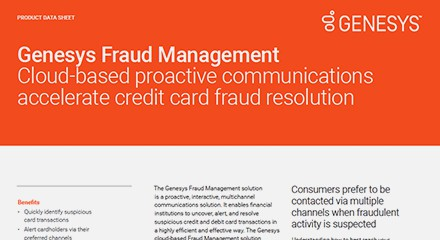 Genesys fraud management