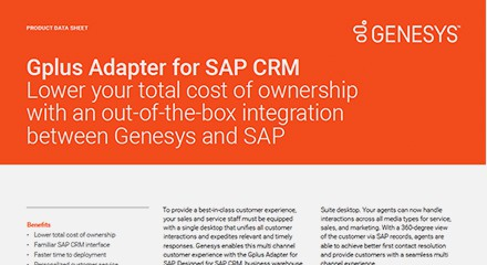 Gplus adapter for sap crm