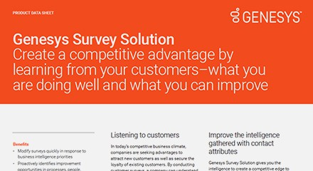 Genesys survey solution