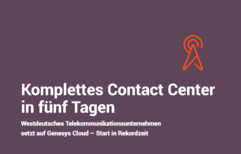 Komplettes contact center in fnf tagen (1)