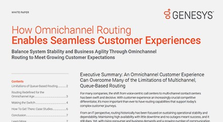 Omnichannel routing enables seamless cx wp resource center en