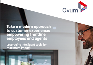 Take a modern approach to customer experience: empowering frontline employees and agents