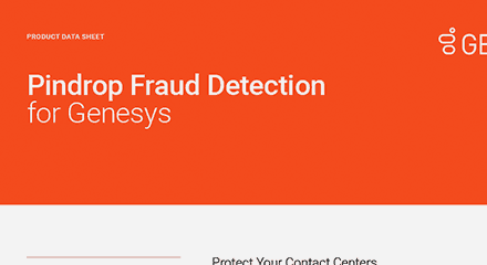 Pindrop fraud detection for genesys