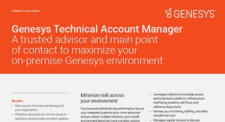 Genesys account manager
