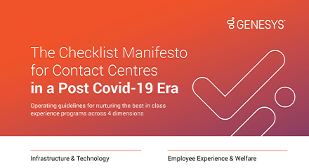 The checklist manifesto for contact centres in a post covid 19 era resource center en