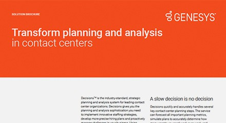Transform planning and analysis in contact centers