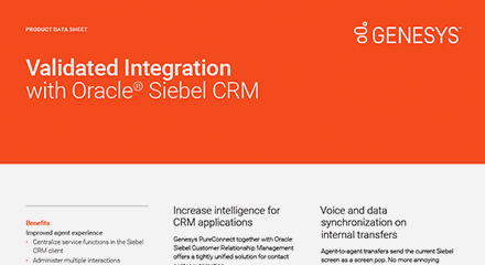 Validated integration with oracle siebel crm ds resource center en