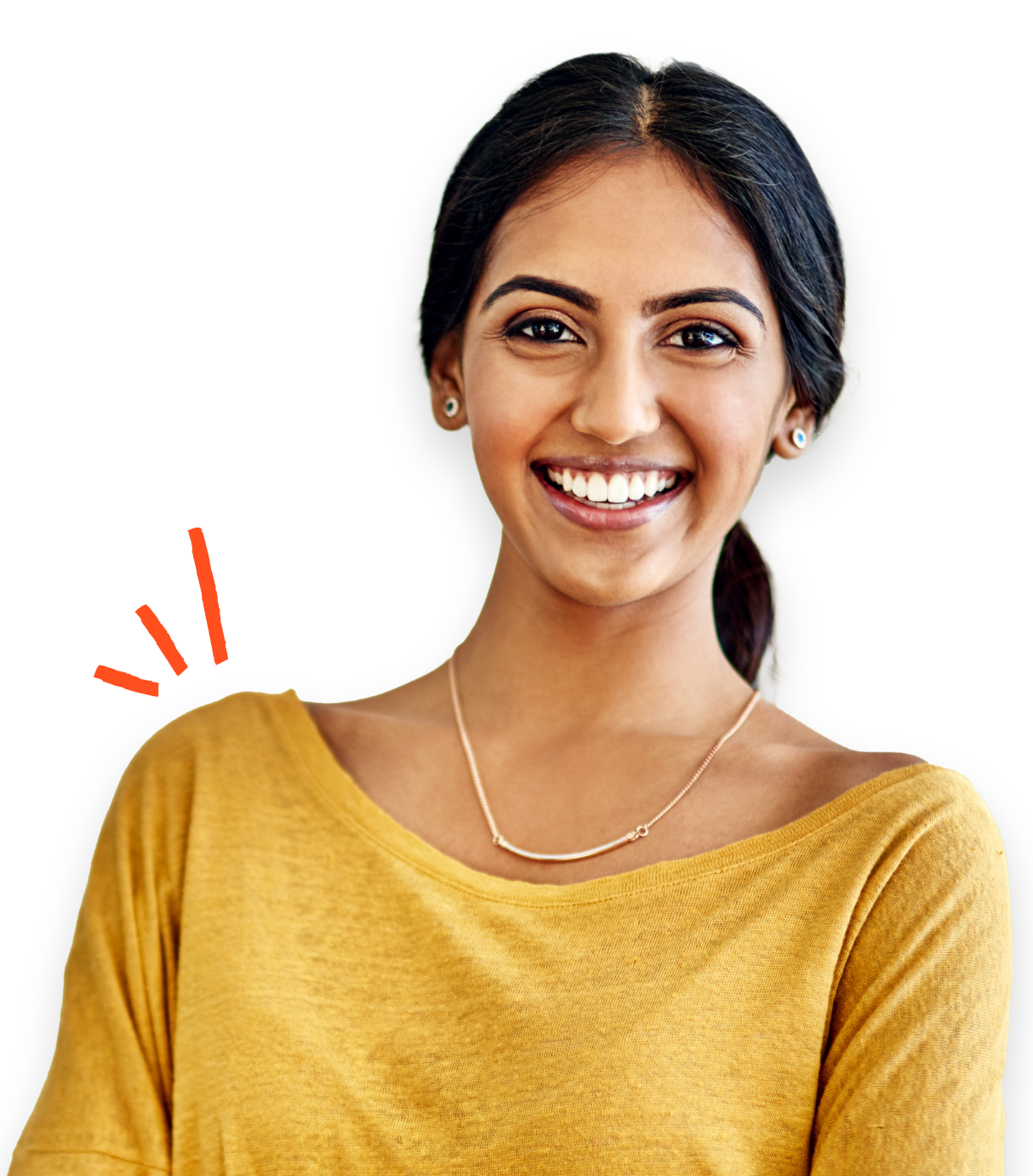 Indian woman with globe