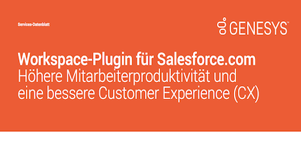 Workspace Plugin für Salesforce Datenblatt