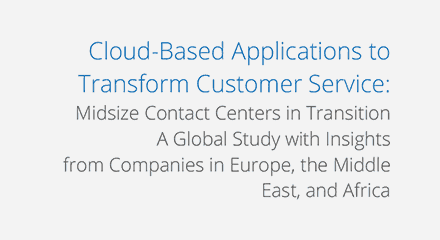 Idc cloud based applications to transform customer service wp resource center emea
