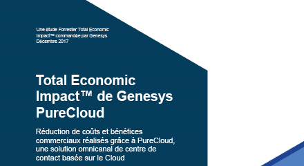 Forrester total economic impact of genesys purecloud resource center fr