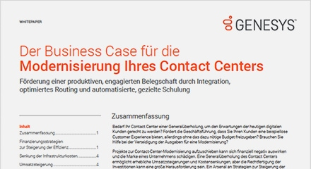 Building the business case for contact center modernization wp resource center de
