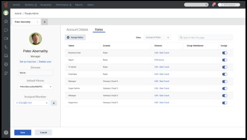 Genesys Cloud Screen