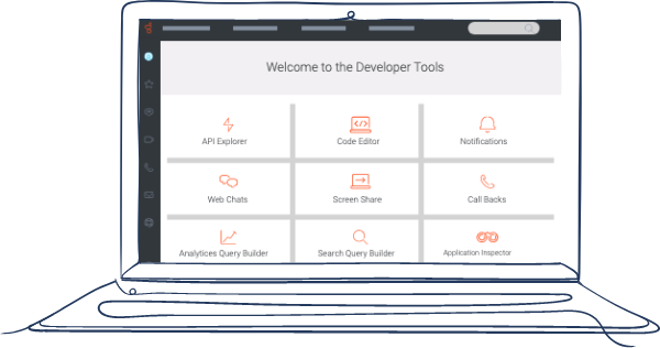 Laptop developer tools without icon