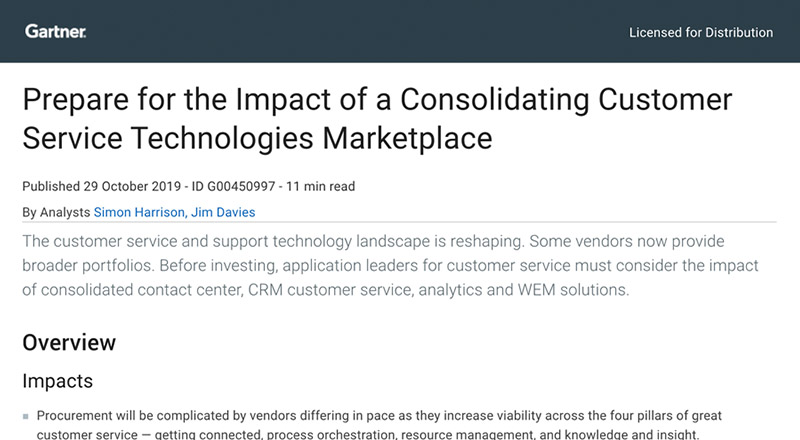 Gartner report prepare for the impact of a consolidating customer service technologies marketplace thumbnails en sidebar